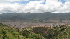 Balcony of the Devil (richenlife) Tags: city travel blue sky moon mountains peru nature inca cuzco trek temple shrine view forrest cloudy hiking balcony cities x tourist hills jungle devil zona relics zone relic qenko