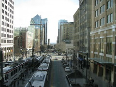 City Creek Center view from skybridge