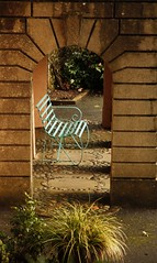 Take a break (Christine Winston) Tags: wales bench arch seat portmeirion gwynnedd wfcportmeirion2012