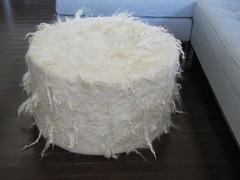 Closer view (Modern Fiber Lab - Sonya Yong James) Tags: wool giant felt lincoln pouf longwool