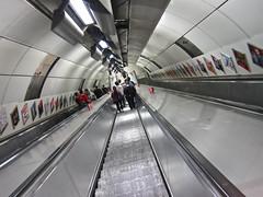 Tube Escalator, London, UK (Robby Virus) Tags: uk greatbritain england london station underground unitedkingdom britain escalator tube steep