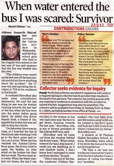 Samarth Shirodkar the only Survivor (joegoaukextra3) Tags: bus goa tragedy joegoauk