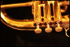 trumpet... (urbantraveller) Tags: road music london rehearsal band neil waters hackney horn premises digisoul