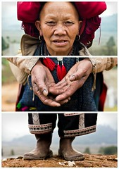 Triptychs of Strangers #30: The Blue Inked Red Dzao, Taphin Village - Sapa (adde adesokan) Tags: street travel people pen photography asia streetphotography documentary olympus vietnam ep3 streetphotographer m43 mft mirrorless microfourthirds theblackstar mirrorlesscamera streettogs addeadesokan