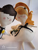 Wedding Dolls (Cromanticamente) Tags: kids doll craft felt softie feltro bambole childfriendly kidsdecor bamboline humanfiguredoll