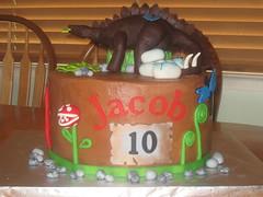 Dinosaur cake by Kathy J