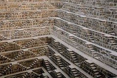The amazing Chand Baori stepwell (Saumil U. Shah) Tags: travel wallpaper india history tourism monument beautiful architecture steps deep tourist historic well jaipur levels desktopwallpaper rajasthan stepped shah chand historicindia stepwell  saumil baori  incredibleindia abhaneri saumilshah bandikui