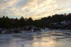 The Mountain Lake (diesmali) Tags: trees winter lake ice clouds forest g