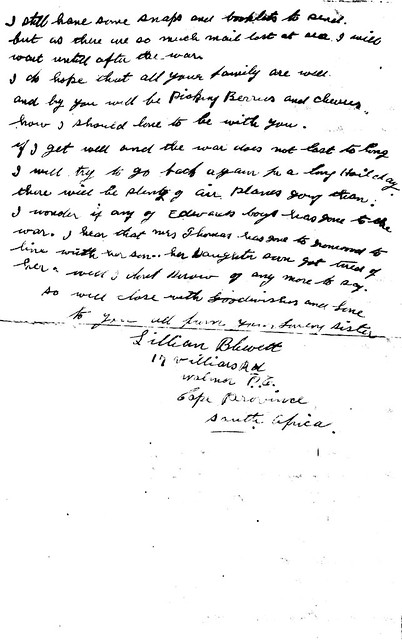 Lillian Walls-Blewett Letter- 19 May 1944 - Page 2
