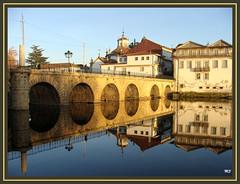 Chaves - ponte romana e Igreja da Madalena (Mário Silva) Tags: portugal ponte romana chaves trásosmontes tâmega madalena ilustrarportugal sérieouro