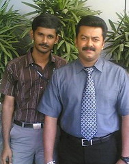 Me with Indrajith (thomas arun) Tags: trissur peechidam