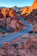 Two Lane Splendor (James Marvin Phelps) Tags: road travel valleyoffire sunrise print poster photography sandstone desert nevada canvas redrock hdr mojavedesert overton valleyoffirestatepark mandj98 jmpphotography jamesmarvinphelps