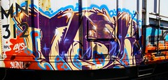 TASK (KNOWLEDGE IS KING_) Tags: color art car yard train bench one graffiti paint panel box tracks rail railway socal piece burner bomb railfan freight reefer fill task in rollingstock armn stitchedpanorama benched paintedsteel