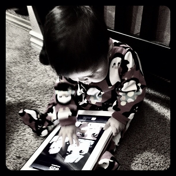 Not again! #geek #APPLE #babygirl #baby #geekgirl #iPad2