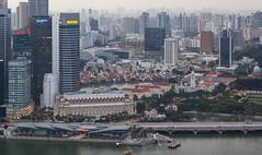 Riverside (maxunterwegs) Tags: singapore cityscape riverside dusk singapour singapur singapura mbs singaporeriver observationdeck skypark marinabaysands