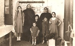Greek family (Addie-B) Tags: family girls sisters vintage greek photo grandmother father mother daughters photograph letter 1958 priest orthodox rppc