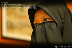 the hijab... (e n c i k e p i) Tags: hijab niqab flowerofislam
