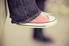 seventy five (dailyweekley) Tags: pink shoes converse chucks littlefeet
