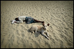 Homelessness to be a crime in Bangladesh ? (*illusionist*) Tags: life street sleeping people dog beach look foot freedom sand bars personal authority homeless poor criminal human crime national rights sin tuna ctg act gov sans helpless hogar wisma chittagong vagabond abri obdachlos nhrc