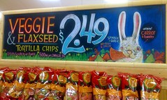Bunny Chips (misterbigidea) Tags: rabbit bunny art sign easter chalk artist display cartoon seed joe vegetable chips snack traderjoes brunch chip chewing appetizer lettering veggie joes fiber chalkboard tortilla crunch snacking flax trader traderjoe omega3 stoneground flaxseed