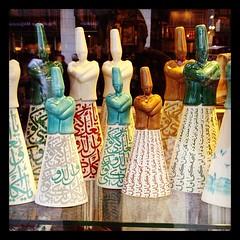 Dervish dolls (radiowood) Tags: turkey square dolls istanbul hefe dervish iphoneography