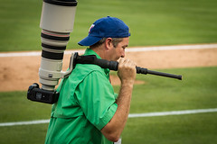 400mm f/2.8 IS burden (J.R.Photography) Tags: canon texas baseball rangers roundrock 100400mm roundrockexpress 400mmf28is