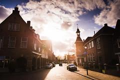 Sunlight @ Hotel 't Lansink, Tuindorp, Hengelo, The Netherlands (lambertwm) Tags: sunset sky sunlight backlight clouds zonsondergang wolken lensflare flare backlit lucht tegenlicht zonlicht hengelo againstthelight 2470 tuindorp d700 ctstorkstraat tlansink