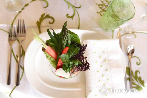 Individual Fresh Crudite Place Setting