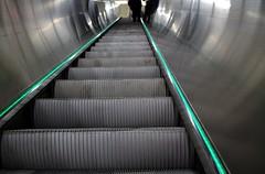 (Maria Niku) Tags: stairs underground subway person metro escalator citylife passenger urbanlife