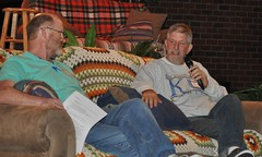 Barry interviewing Bob (bobmendo) Tags: reunion 40th lawrence anniversary couch ku interview 2012 lawrencekansas mustardseed onthecouch bobmendo 40thanniversary themustardseed mustardseedchristianfellowship mustardseedchurch mustardseedreunion themustardseedchurch photosbycarriemayhew