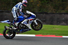 On The Pegs (Mortarman101) Tags: racetrack speed championship power bikes motorbike motorcycle wheelie 2012 britishsuperbikes oultonpark joshbrookes tasracing tycosuzuki