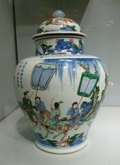 Jar with farewell scene (sftrajan) Tags: sanfrancisco ceramics jar porcelain asianartmuseum chineseceramics jingdezhenware