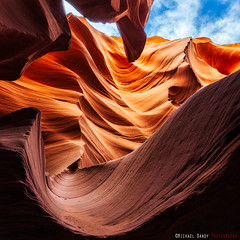 Layers of Light and Color (Michael Bandy) Tags: red sky rock nikon sandstone az page slotcanyon antelopecanyon lowercanyon