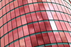 Red scales (Nathalie_Dsire) Tags: red abstract reflection building glass architecture pattern stuttgart tinted stuttgartnord buelowtower