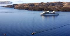 Caldera view... (klentosharry) Tags: blue sea water canon landscape boat aegean hellas santorini greece caldera cyclades canoneos5d