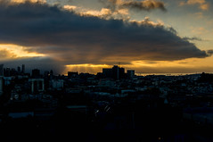 DSC09076.jpg (falafeLover) Tags: sf sanfrancisco sunlight skyline dawn rays