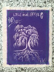 [NOT] little dead grrrl (rebrandedtothecore) Tags: tree art girl dead design hand little recycled sew made textile willow fabric weeping repurposed not