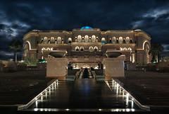 Emirates Palace (stefan.lafontaine) Tags: city hotel nightshot united uae palace arabic emirates colourful abu dhabi emirate vae