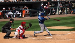 Infante Flies Out (Brule Laker) Tags: chicago baseball south side mlb kansascityroyals uscellularfield americanleague chicagowhitesox