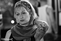 Amsterdam Tattoo Convention (4) (Pieter van de Ruit) Tags: bw woman holland netherlands girl amsterdam tattoo blond amsterdamtattooconvention