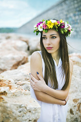 Blossom (D.Vasilev) Tags: flowers sea portrait cold flower art girl beautiful 35mm canon wonderful spring pretty blossom sigma dreamy canon6d 35art