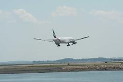 IMG_2604 (wmcgauran) Tags: boston airplane airport aircraft aviation emirates boeing bos 777 eastboston kbos a6ecp