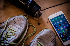 141 ~ 366 (BGDL) Tags: nike waterbottle niftyfifty woodenflooring trainingshoes nikond7000 bgdl afsnikkor50mm118g lightroomcc iphone6plus goingfor4inarow~366
