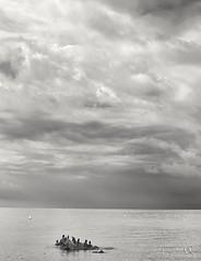Cormoranes (mmontesfotografo) Tags: sea blackandwhite seascape blancoynegro landscape monocromo fineart landscapephotography