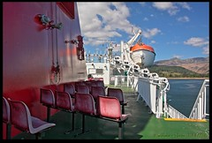 MV Caledonian Isles leaving Arran (zweiblumen) Tags: uk ferry scotland ship alba calmac brodick isleofarran hdr polariser caledonianmacbrayne brodickbay northayrshire eileanarainn canoneos50d mvcaledonianisles zweiblumen breadhaig eileananchaledonia
