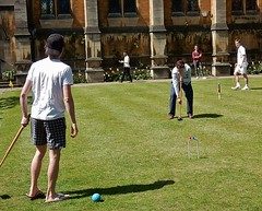 Croquet in the Sun (mikecogh) Tags: game classic college students university lawn thongs oxford recreation croquet