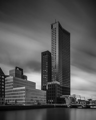 Maastoren On Spoorweghaven No. 1 (Mabry Campbell) Tags: longexposure blackandwhite holland building water monochrome architecture port photography canal photo rotterdam cityscape photographer image fav50 may thenetherlands fav20 photograph 100 24mm fav30 f11 fineartphotography 2014 architecturalphotography northerneurope commercialphotography fav10 fav100 fav40 fav60 architecturephotography fav90 rotterdamsouth fav80 fav70 tse24mmf35l fineartphotographer spoorweghaven houstonphotographer maastoren mabrycampbell may132014 4780sec 20140513h6a5371