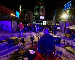Transistor Radio at Yonge-Dundas Square (Gregory Pleau) Tags: city people urban music toronto radio concert crowd performance band nightlife transistor dundassquare transistorradio