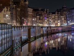 Nice reflections (karinavera) Tags: street city longexposure travel urban flower water netherlands amsterdam night reflections reflex market canals exploration nikond5300