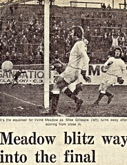 1973 Scottish Cup, Semi Final (Gordon McCreath) Tags: football soccer meadow 1973 calcio semifinal voetball fitba irvinemeadow firhill medda irvinemeadowxi